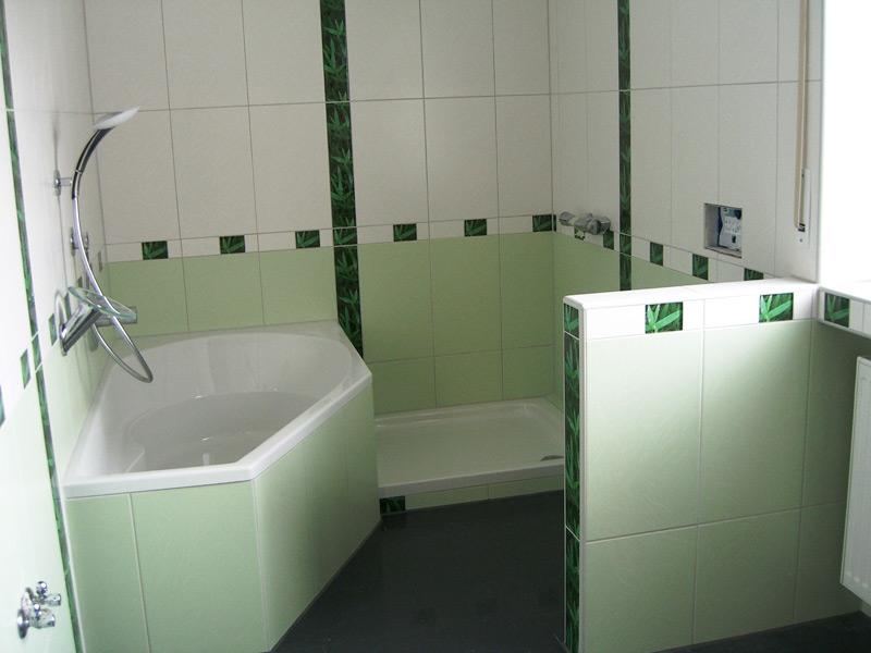 Bad Germering - nachher Wanne und Dusche