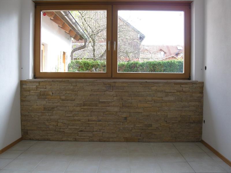 bruchraue Verblender Wand Fenster - nachher
