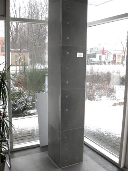 Lackiererei Geissler Wohn- Büro- und Betriebsgebäude Glasfrontecke