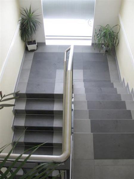 Lackiererei Geissler Wohn- Büro- und Betriebsgebäude Treppenhaus