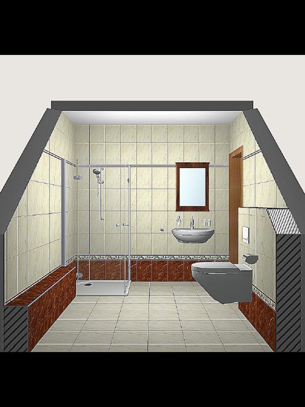3D-Badplanung - Seitenansicht