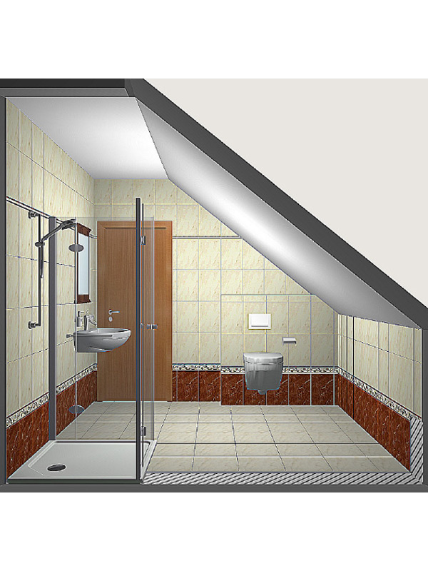 3D-Badplanung - Sicht zur Tür